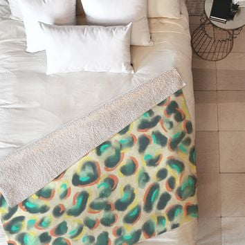 Jacqueline Maldonado Leopard Warm Fleece Throw Blanket
