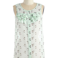 ModCloth Cats Mid-length Sleeveless Just Kitten! Top
