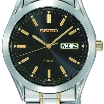 Seiko Mens Two Tone Stainless Steel Watch