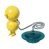 mr. suicide bathtub plug with float in yellow by alessi / bathroom