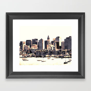 Skyline of Boston Framed Art Print by lanjee