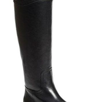 Tory Burch Boots Ashlynn Venus Leather Riding Boot Flat