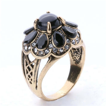 New Hot Women Vintage Retro Old Copper Ring Womens Fashion Casual Jewelry Unique Best Gift Girl Rings-34