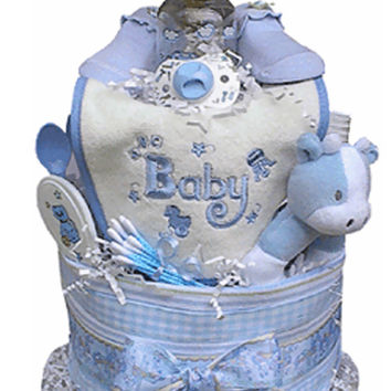 Tiered Boy'S Diaper Cake