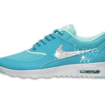Nike Air Max Thea shoes w/ Swarovski Crystals detail - Dusty Cactus/Pure Platinum/Hype