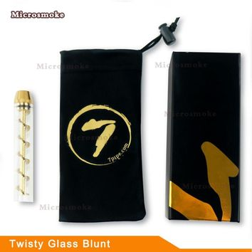 Official  7 Pipe Dry herb Vaporizer Twisty Glass Blunt