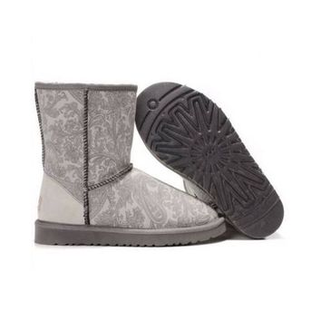 Discount Ugg Boots Classic Paisley 5831 Grey For Women 98 72