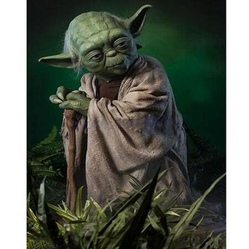 Star Wars Force Episode 1 2 3 4 5 New Diy 5d Rhinestones Full Square Drill Mosaic Diamond Painting Cross Stitch Kits  Diamond Embroidery Master Yoda AT_72_6