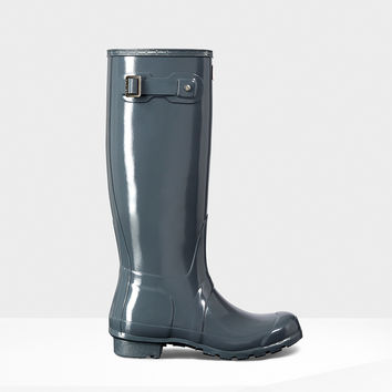 Hunter - Original Tall Gloss Graphite Rainboot
