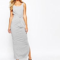 Y.A.S Bravy Maxi Dress With Knot Front Detail
