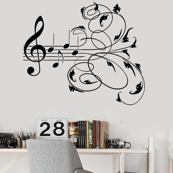 Vinyl Wall Decal Music Patterns Musical Room Decor Stickers Mural (ig3244)