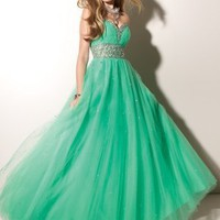 Empire Sweetheart Tulle Floor-length Prom Dress With Sequin at Dresseshop