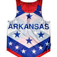 "Arkansas ""Natural State"" Flag Tank Top"