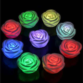 Changing 7 Colors Rose Flower Christmas Wedding Party Fairy Lights Led Battery [7981214215]