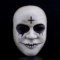 Resin Devils The Purge Cross Scary Skull Moive Mask Halloween Mascara Terror Cosplay Prank Props Slipknot Mask Party Masquerade