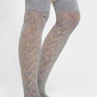 Urban Outfitters - Herringbone Pointelle Knee-High Sock