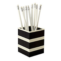See Jane Work Paperboard Pencil Cup 3 H x 3 W x 4 D Black Stripe by Office Depot
