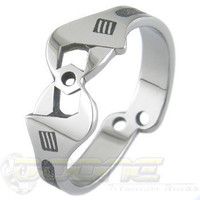Mechanica Titanium Ring by boonerings on Etsy