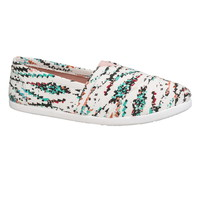 White Combo Cyra Printed Slip On - White