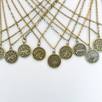 Zodiac Pendant Necklace