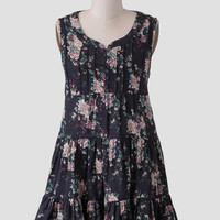 Midnight Hour Floral Dress
