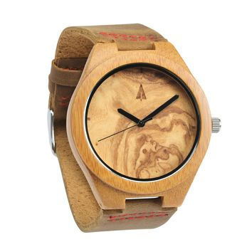 Wooden Watch // Olive Ash Plain