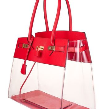Red Designer Tote Bag