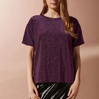 UO Andie Metallic Shimmer Tee | Urban Outfitters
