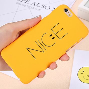 Nice Smile Phone Case For iPhone 7 6S 6 Plus Cover Ultra Thin Smooth Touch Protective Cartoon Cover For iPhone 6 6S 7 Plus