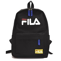 FILA tide brand simple men and women sports canvas backpack #3