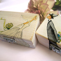 Wedding Wooden box Ring bearer Gift box Wedding decor gift idea