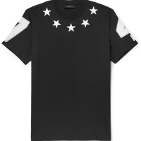 Givenchy - Cuban-Fit Embroidered Star-Trim T-Shirt | MR PORTER