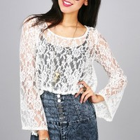 Bellissima Lace Top | Trendy Clothes at Pink Ice