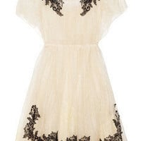 Valentino | Appliquéd lace dress | NET-A-PORTER.COM