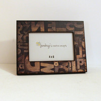 4x6 Photo Frame Rustic Brown Typography Teacher Appreciation