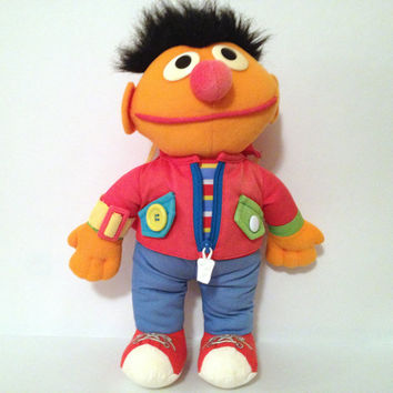 Vintage Sesame Street Ernie Plush Learn to Dress