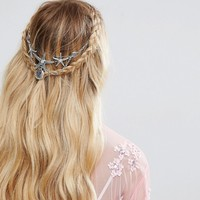 ASOS Mermaid Faux Pearl Back Crown at asos.com