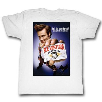 Ace Ventura T-Shirt Pet Detective Color Poster Best There Is White Tee