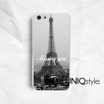 B&W Paris Eiffel Tower phone case, iPhone Samsung case for iphone 4 4s 5 5s 5c samsung galaxy s3 s4 note2 note3, black and white, quote, E59