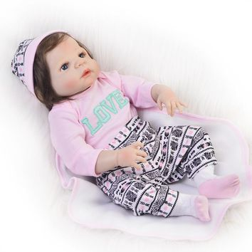 Silicone Baby - Reborn Full Body Doll - Realistic 23 Inch Baby Girl