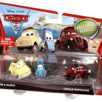 Disney Pixar Cars 2 Movie Die-Cast Luigi, Guido, and Uncle Topolino 3-pack 1:55 Scale