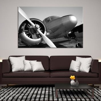 16528 - Single Engine Aircraft Propeller Close-up Canvas Print, Extra Large Wall Art Canvas Print, Airplane Propeller Wall Art, Framed Wall Art, Housewarming Gift, Office Decor