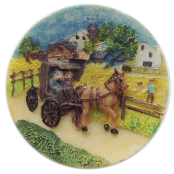 Amana Colonies Souvenir Fridge Magnet / Buggy