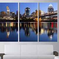 Atlanta Skyline wall art, LARGE Canvas Print wall ART, Atlanta wall Art, Extra Large wall atlanta Wall Art Print, city skyline wall art  t60