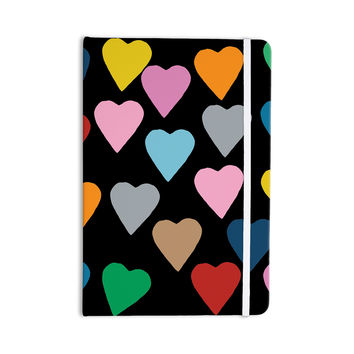 """Project M """"Hearts Colour on Black"""" Everything Notebook"""