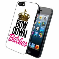 Bow Down Bitches- Phone Case Back Cover (iPhone 4 4s - rubber) includes BleuReign(TM) Cloth and Warranty Label