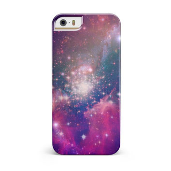 Vibrant Sparkly Pink Space iPhone 5/5S/SE INK-Fuzed Case