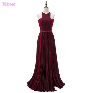 Lively Red Carpet Celebrity Dresses Burgundy Long Evening Gown