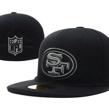 DCCKBE6 San Francisco 49ers New Era 59FIFTY NFL Football Cap Black