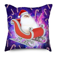 Santa Space Cat Pillow